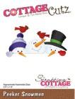 Cottage Cutz Dies - Peeker Snowmen
