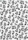Nellie Snellen Embossingfolder - Musical Notes