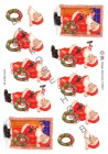HM design 3D Klippark - Tomte m julkrans