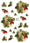Dan design - 3D Klippark - Rödhake på kvist