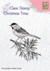 Clearstamp från Nellie Snellen - Conifer branch with bird