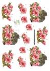 Dan-design 3D Klippark - Katter m blomsterkorg