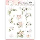Precious Marieke 3D Utstansat - Flower in Pastels - Believe in Pink
