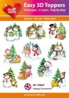 Easy 3D Utstansat - Happy Snowmen