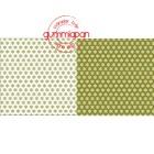 Gummiapan papperspack - Snöflingor - Oliv