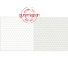 Gummiapan papperspack - Snöflingor - Beige