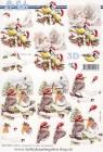 Le Suh - 3D Klippark - Fåglar m tomteluva