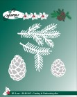 by Lene - Dies - Branch and pine cone