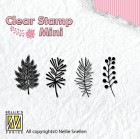 Nellie Snellen - Clearstamps - Mini - Christmas Branches 1