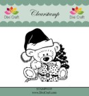 Dixi Craft - Clearstamp - Christmas Teddy Bear