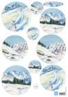 Marianne Design Klippark - Snow Mountains