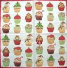 Servett Christmas Cupcakes