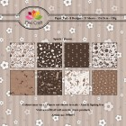 Dixi Craft Pappersblock - Sports/Brown
