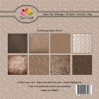 Dixi Craft Pappersblock - Steel Background/Brown