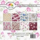 Dixi Craft Pappersblock - Retro Flowers