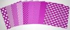 Gummiapan papperspack - Lila 10 ark