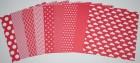 Gummiapan papperspack - Röd 10 ark