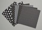 Gummiapan papperspack - Svart 10 ark