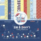 ScrapBerrys Pappersblock - Zoe & Ziggys Sailing Adventures Set 6x6 - 24sheets