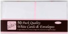 Kort & kuvert - Vita 50 st/förp, storlek 13,5x13,5 cm