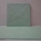 Kort & kuvert - kortstrl. 15x15 cm, kuvertstrl. 16x16 cm, turkos pastellfärg, 10 set