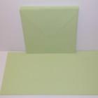 Kort & kuvert - kortstrl. 15x15 cm, kuvertstrl. 16x16 cm, grön pastellfärg, 10 set