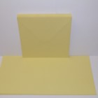 Kort & kuvert - kortstl. 15x15 cm, kuvertstl. 16x16 cm, gul pastellfärg, 10 set