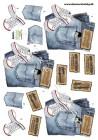 Dan design 3D Klippark - Converse & Jeans