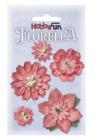 Hobbyfun - Florella Blommor, mörk rosa 2-5 cm