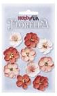 HobbyFun - Blommor röd/rosa 2,5 cm