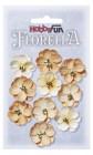 HobbyFun - Blommor beige 2,5 cm