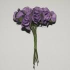 Blommor Lila rosor, 15 mm