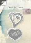 Joy Craft Dies - Sketch Art - Hearts