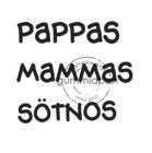 Gummiapan stämpel - Mammas pappas sötnos