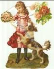 Bokmärke Flicka med hund