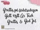 Nellie Snellen - Clearstamps - Svenska Texter