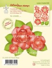 Leane Creative - Clearstamp - 3D Flower Rose