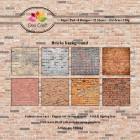 Dixi Craft Pappersblock - Bricks background