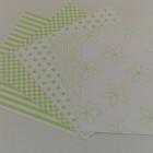 Gummiapan papperspack - Lime 5 ark