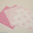 Gummiapan papperspack - Cerise 5 ark