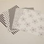 Gummiapan papperspack - Svart 5 ark