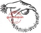 Gummiapan Stämpel - Mellan trolltomte