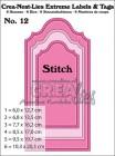 Crealies Dies - Crea-Nest-Dies Extreme Label & tags Nr 11 with stitch line