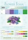 Flower foam 6 ark set 2 Blue/Violet
