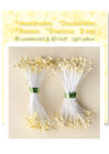 Pistiller i pack 80 st matt och 80 st Pearl - Light yellow
