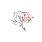 Gummiapan - Stämpel - Magnolia
