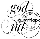 Gummiapan Stämpel - God Jul