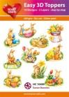 Easy 3D Utstansat - Easter Bunnies