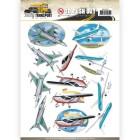 Amy Design 3D Utstansat - Daily Transport - Flying High