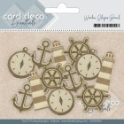 Card deco - Wooden Shapes - Beach
